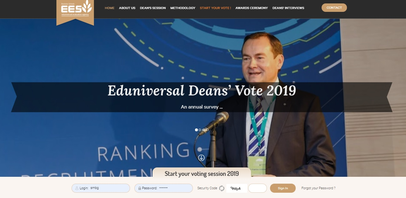 EDUNIVERSAL SURVEY: the Deans' Vote