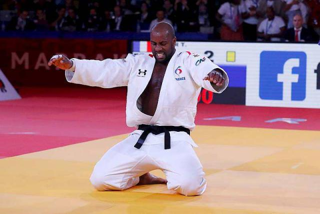 Teddy Riner, sponsor of Eduniversal Booking, win his 10th World Championship title